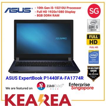 "ASUS ExpertBook P1440FA-FA1774R | i5-10210U  | 8GB RAM | 512MB PCIE SSD | 14"" FHD | Wifi 6 | Win10 Pro | 3 Years International Warranty"