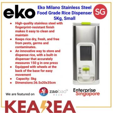 EKO MILANO S/S FOOD GRADE RICE DISPENSER L20xW36.5xH35cm, 5KG, SMALL