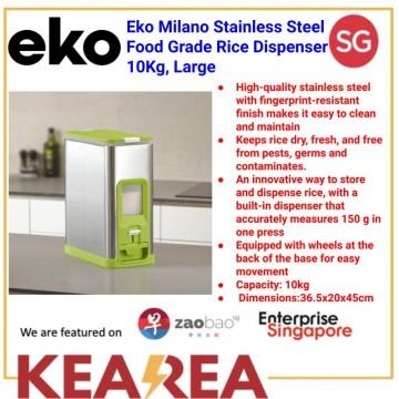 EKO MILANO S/S FOOD GRADE RICE DISPENSER L20xW36.5xH45cm 10KG LARGE