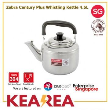 Zebra Century Plus Stainless Steel Whistling Kettle 4.5L