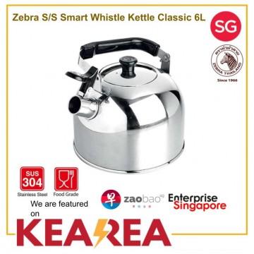 Zebra SMART Stainless Steel Whistling Kettle 6L
