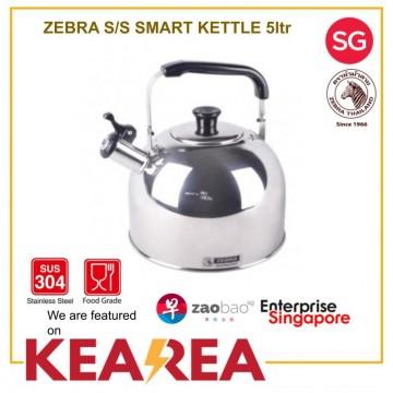 Zebra SMART Stainless Steel Whistling Kettle 5L