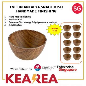 EVELIN ANTALYA SNACK DISH HAND MADE FINISHING - L8.5xW8.5xH4cm (Bundle of 8)