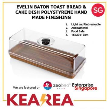 EVELIN BATON TOAST BREAD & CAKE DISH POLYSTYRENE HAND MADE FINISHING - L39xW16xH13cm