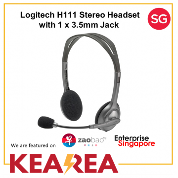 Logitech H111 Stereo Headset with 1 x 3.5mm Jack