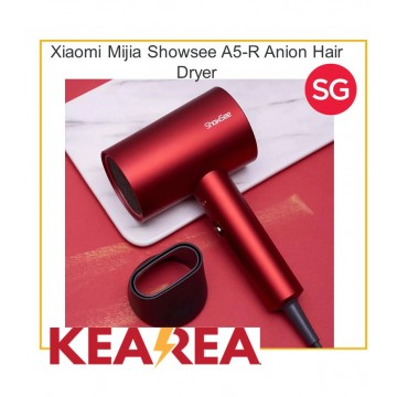 Xiaomi Mijia Showsee A5-R G Anion Portable Hair Dryer | Negative Ion hair care | Professional Quick Dry Home 1800W