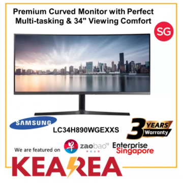 (Pre-Order) Samsung 34 LC34H890WGEXXS Premium Curved Business Monitor (3 year onsite warranty)