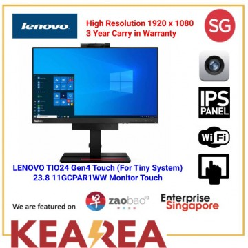 LENOVO TIO24 Gen4 Touch (For Tiny System) 23.8 11GCPAR1WW Monitor  3 year carry in warranty