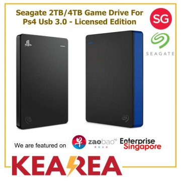 Seagate 2TB/4TB Game Drive For Ps4 Usb 3.0 - Licensed Edition