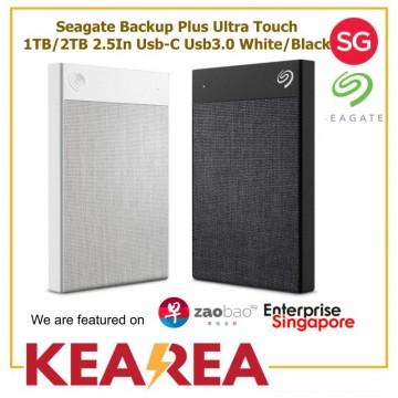 Seagate Backup Plus Ultra Touch 1TB/2TB 2.5In Usb-C Usb3.0 White/Black