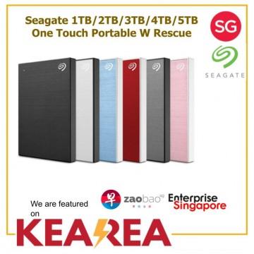 Seagate 1TB/2TB/3TB/4TB/5TB One Touch Portable W Rescue