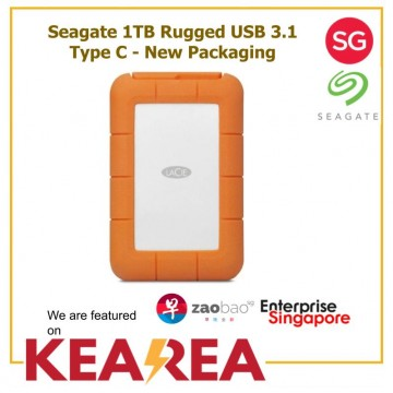Seagate 1TB Rugged USB 3.1 Type C - New Packaging
