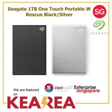 Seagate 1TB One Touch Portable W Rescue Black/Silver