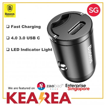 Baseus Quick Charge 4.0 3.0 USB C Car Charger For Xiaomi mi9 Huawei P30 Pro QC4.0 QC3.0 QC 5A Fast PD Car Charging Phone Charger