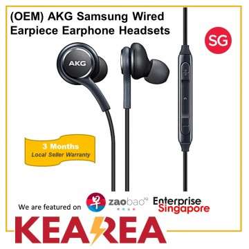 (OEM) AKG Samsung Wired Earpiece Earphone Headsets With Mic 3.5mm In-Ear Stereo For Samsung / PC / Laptop / Notebook / Galaxy / Huawei / Xiaomi