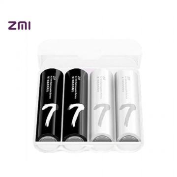 4pc Original Xiaomi ZMI ZI5 AA 1800mAh 1.2V Rechargeable Ni-MH Battery Xiaomi ZIM Power Bank