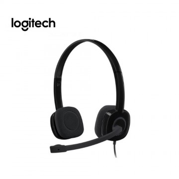 Logitech H151 Stereo Headset Black with 1 x 3.5mm Jack