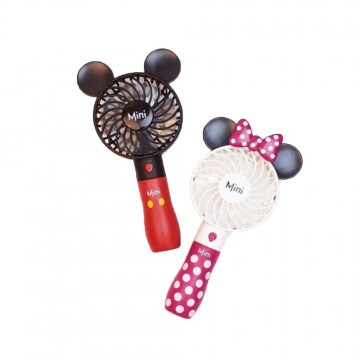 Mickey Fan Portable Handheld With Rechargeable Built-in Battery 800mA USB Port Handy Air Cooling Mini Fan For Smart Home