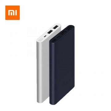 Original Xiaomi Mi 10000mAh Power Bank 2 Quick Charge External Battery (Black)(Black 5001-10000mAh)