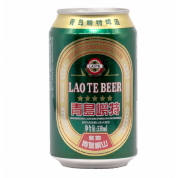 Qingdao Laote Premium Light Beer Can 24 x 330ML