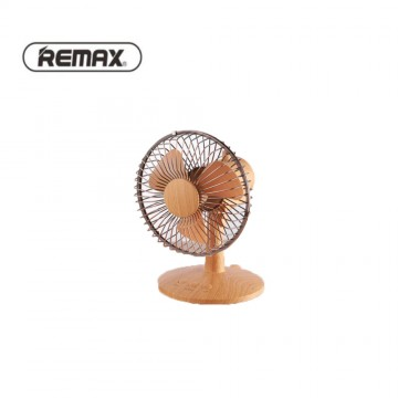 REMAX Retro Desktop Moving Head Fan F27 Wood Grain