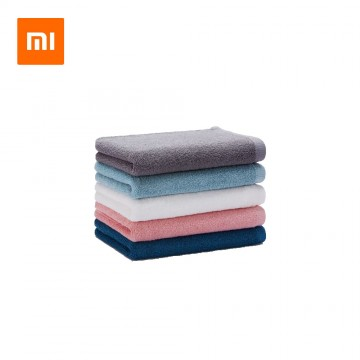 XIAOMI Mijia Towel 100% Cotton Strong Water Absorption Bath Soft and Comfortable Beach Face Hand Towels 32 x 70cm