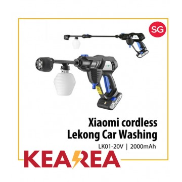(3 month seller warranty) Xiaomi Lekong Cordless High-Pressure Washer/Coating Polishing car wash wax [LK01-20V,Handheld,Lithium Battery,2.2Mpa,2000ml Per Min, Rechargeable, Multi-Function, Portable, Lightweight]