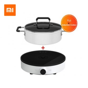 Xiaomi Mijia Smart Induction Cooker 2100W (DCL001CM) and Household Mini Hotpot Soup Pot - Support Mi Home APP