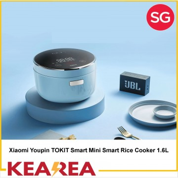 Xiaomi Youpin TOKIT Smart Mini Smart Rice Cooker 1.6L Heating Pressure Cooker Heated Food Container Kitchen Appliances Work with Mijia APP 220V