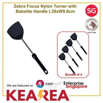 (Bundle of 4) Zebra Focus Nylon Turner with Bakelite Handle L38xW9.8cm